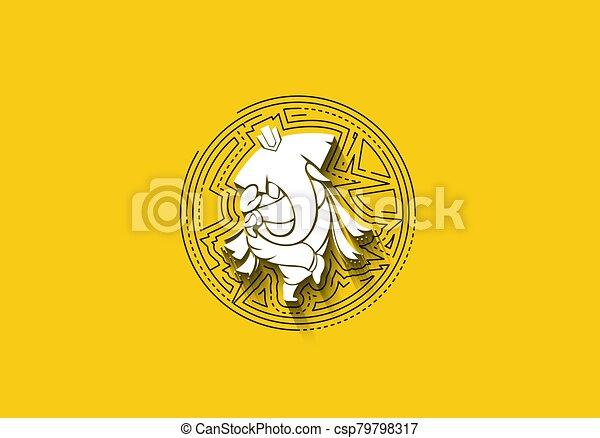 Hindu God Ganesha - elephant. Vector hand drawn illustration. - csp79798317