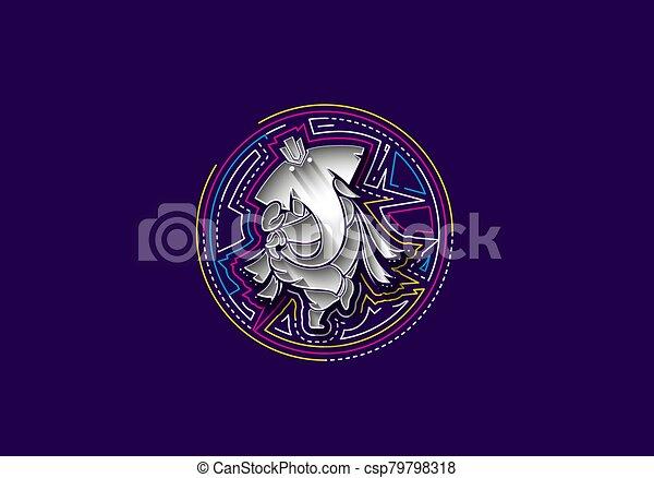 Hindu God Ganesha - elephant. Vector hand drawn illustration. - csp79798318