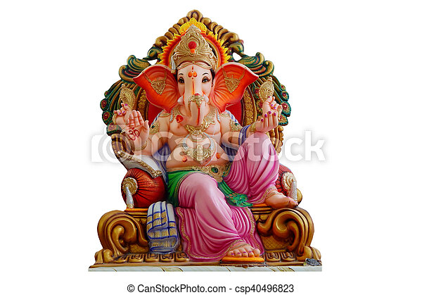 Hindu God Ganesha idol - csp40496823