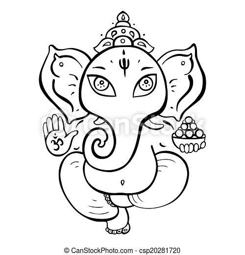 Hindu God Ganesha. - csp20281720