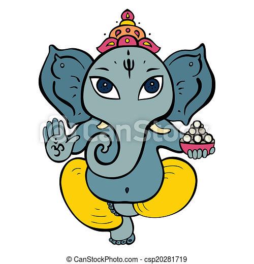 Hindu God Ganesha. - csp20281719