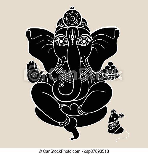Hindu God Ganesha - csp37893513