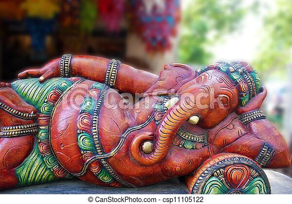 Hindu God Gannesa - csp11105122