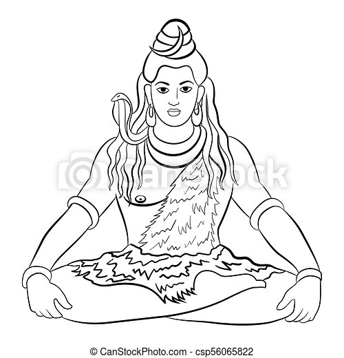 Hindu God Shiva  Vector illustration