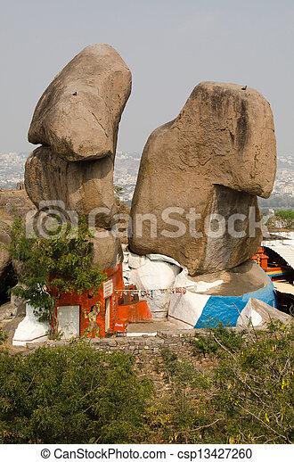 Hindu Temple, Golkonda Fort - csp13427260