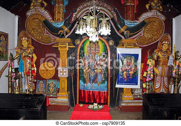 inside hindu temple in badulla sri lanka stock images