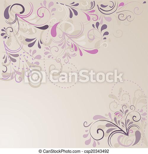Hintergrund aus Ornamenten  - csp20343492
