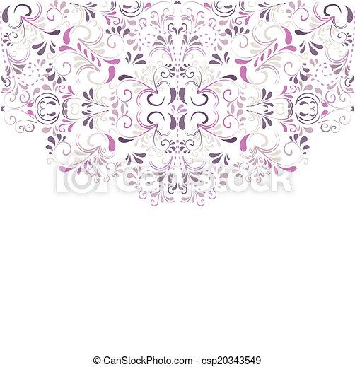 Hintergrund aus Ornamenten  - csp20343549