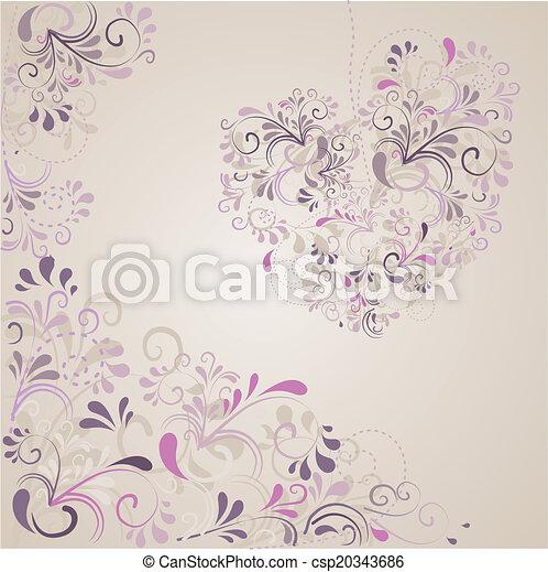 Hintergrund aus Ornamenten  - csp20343686