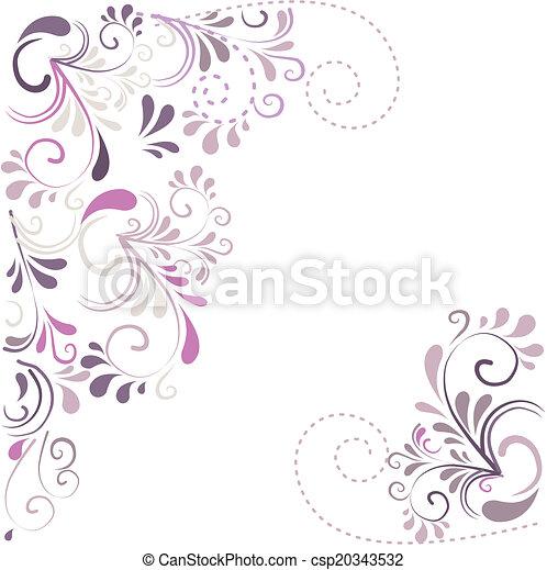 Hintergrund aus Ornamenten  - csp20343532