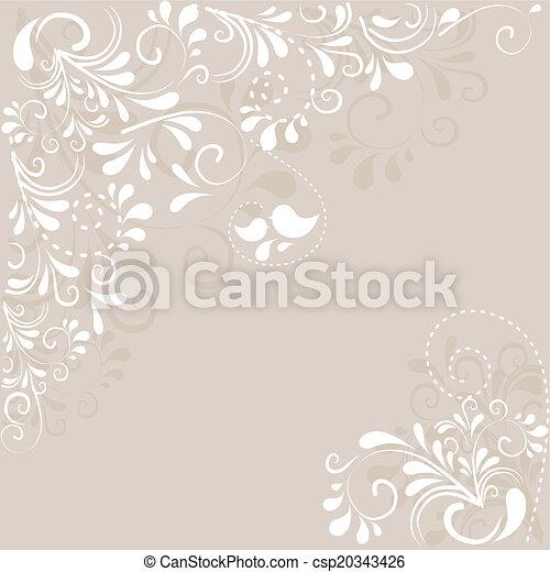 Hintergrund aus Ornamenten  - csp20343426