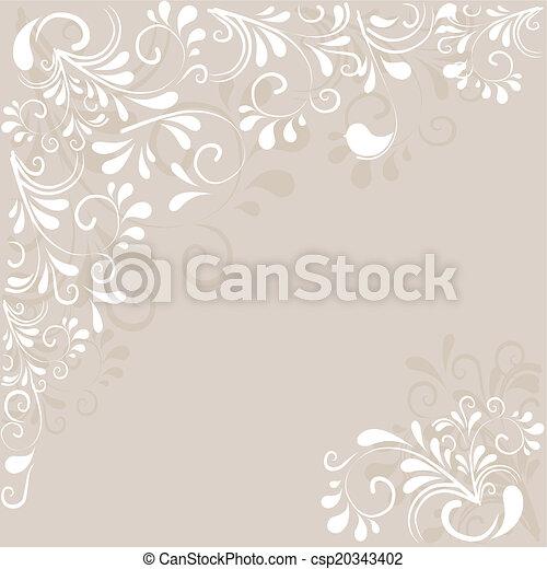 Hintergrund aus Ornamenten  - csp20343402