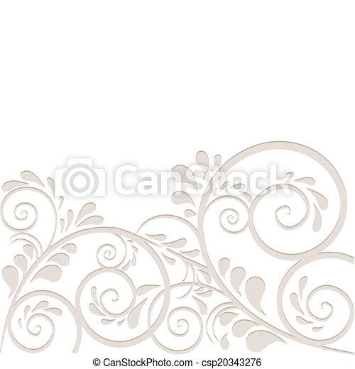 Hintergrund aus Ornamneten in beige - csp20343276