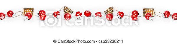 hintergrund, banner, weihnachten - csp33238211