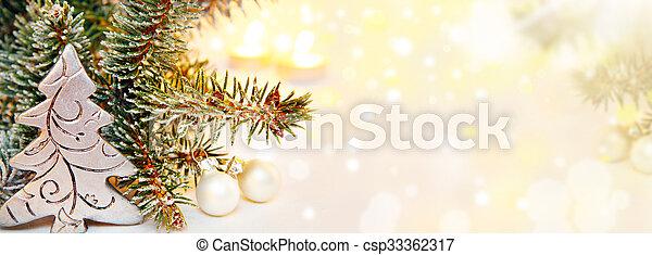 hintergrund, banner, weihnachten - csp33362317