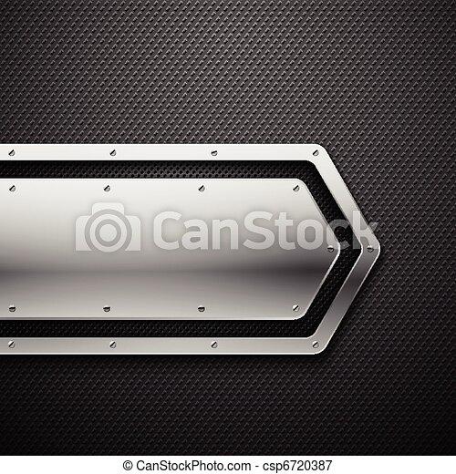 hintergrund., metall, abstrakt - csp6720387