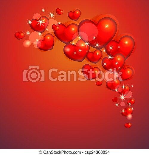 Hintergrund mit Herzen - csp24368834