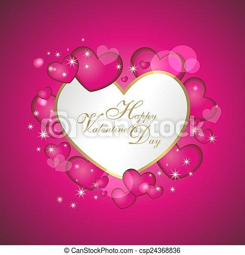 Hintergrund mit Herzen - csp24368836