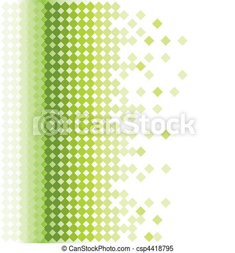 hintergrund, mosaik, grüner abriß - csp4418795