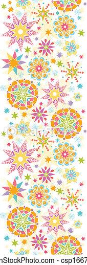 Farbige Weihnachtssterne vertikaler, nahtloser Hintergrund - csp16672209