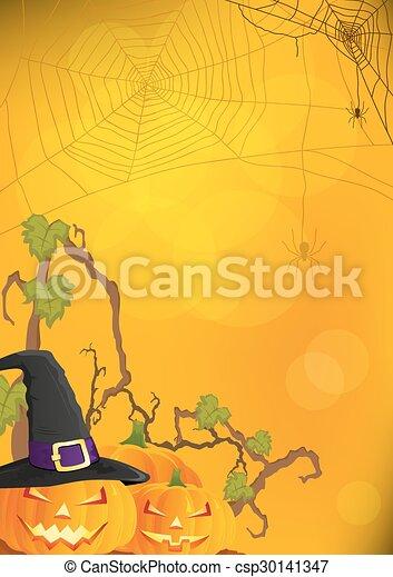 hintergrund, vektor, halloween - csp30141347