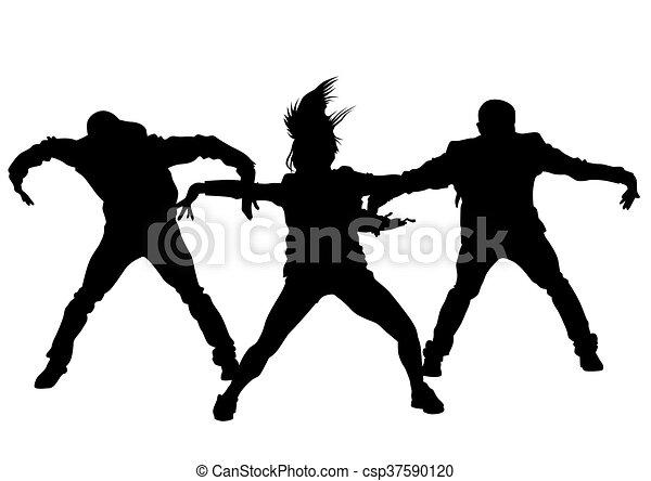Hip Hop Boys And Girls Hip Hop Dancer On White Background