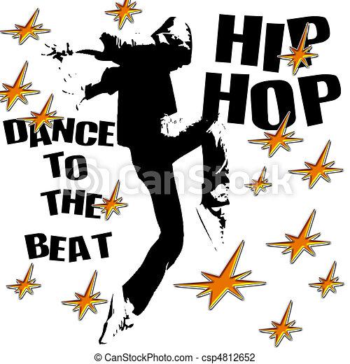 hip hop dance dance to the hip hop beat illustration clip art rh canstockphoto com clipart hip hop gratuit clipart danse hip hop