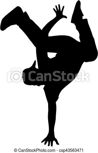 Hip hop dancer silhouette - csp43563471