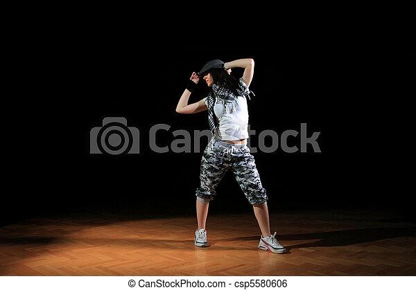 attractive hip hop girl in dance
