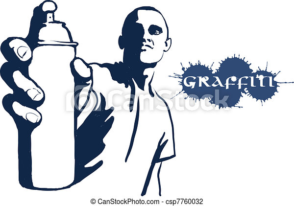 hip hop graffiti spray can