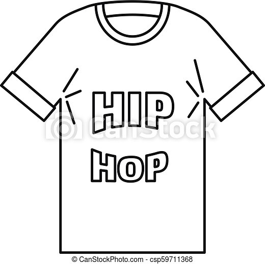 hip hop tshirt icon outline style hip hop tshirt icon outline hip hop tshirt vector icon for web design isolated on white https www canstockphoto com hip hop tshirt icon outline style 59711368 html