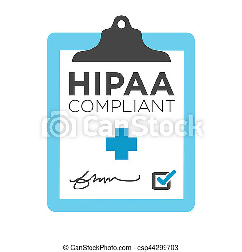 HIPAA Compliance Icon Graphic - csp44299703