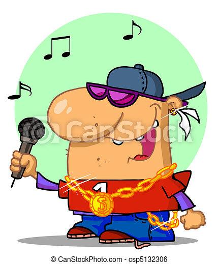hiphop singer caucasian rapper dude singing clip art vector rh canstockphoto com singer clipart free singer clipart free
