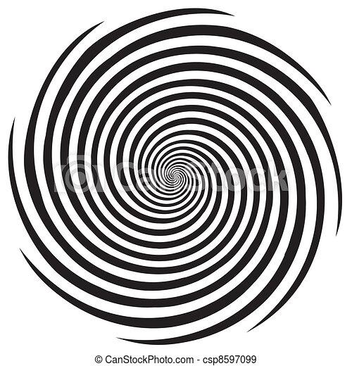 hipnose, desenho, padrão espiral - csp8597099