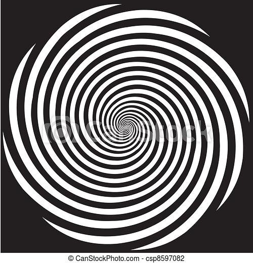 Diseño en espiral de hipnosis - csp8597082