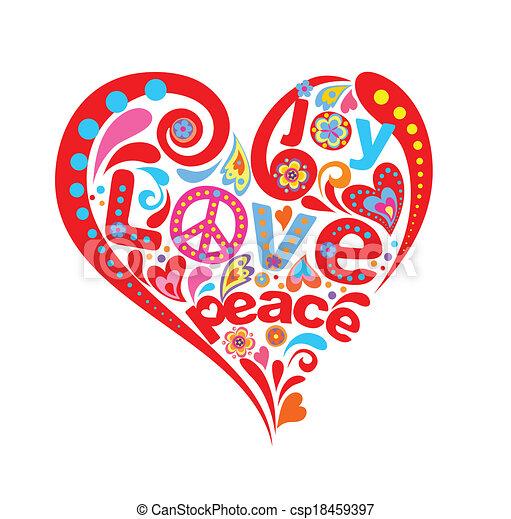 Hippie heart - csp18459397