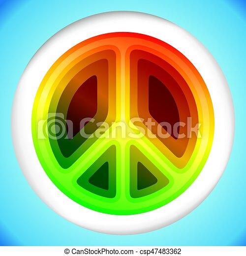 Hippie peace symbol - csp47483362