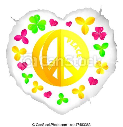 Hippie peace symbol - csp47483363