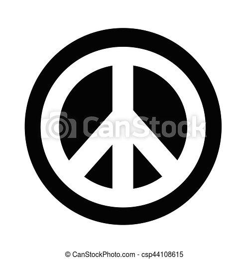 Hippie Peace Symbol Icon Vector Clip Art Search Illustration
