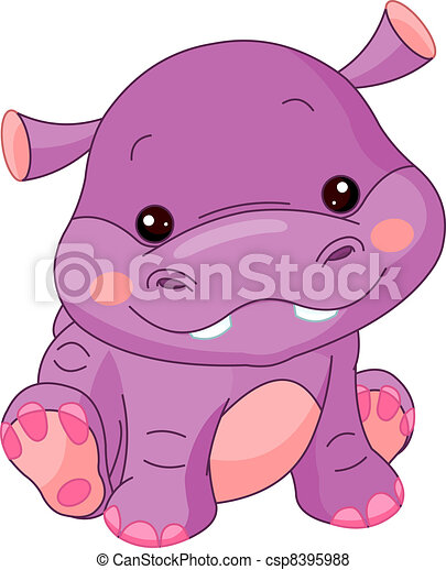 hippopotame, amusement, zoo. - csp8395988