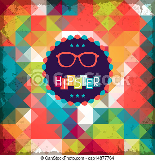 Hipster background in retro style. - csp14877764