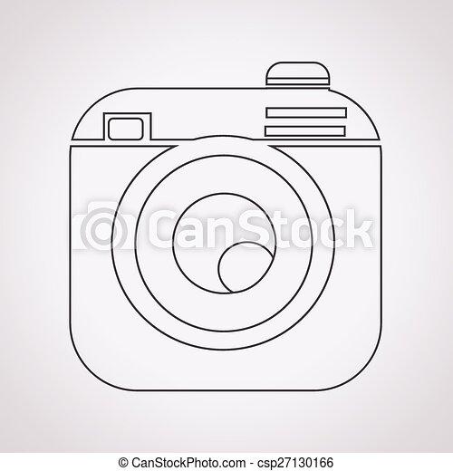 Hipster camera photo icon - csp27130166