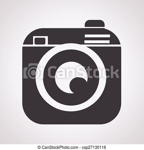 Hipster camera photo icon - csp27130116