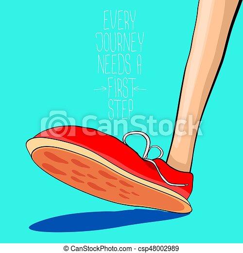 Zapatillas Vector hipster con cita de motivación - csp48002989