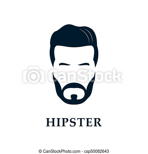 hipster face men s beard and hair vector illustration eps vector rh canstockphoto com hair vector tutorial hair vector free download