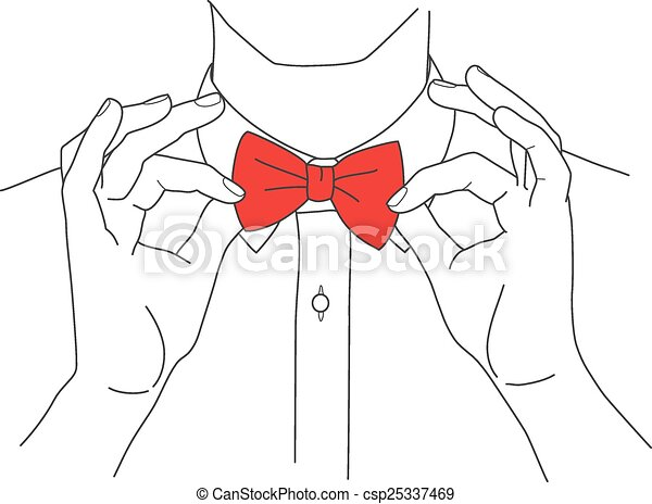 Hipster In A Shirt And Bow Tie Vector Hipster In A Shirt And Bow Tie Vector Image