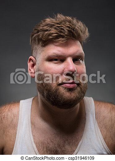 Hipster man with beard - csp31946109