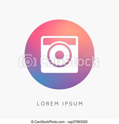 Hipster photo camera icon - csp37863320