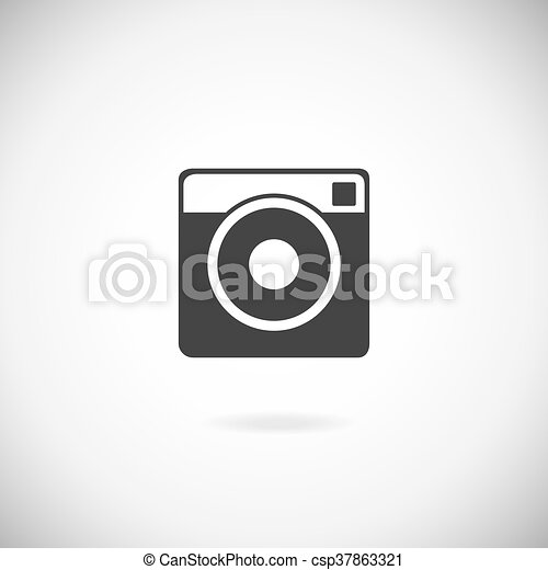 Hipster photo camera icon - csp37863321
