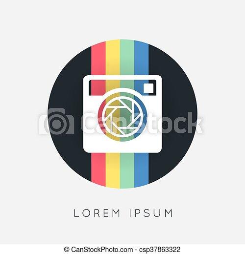 Hipster photo camera icon - csp37863322